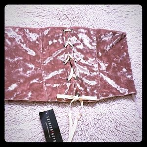NWT Crushed velvet corset belt